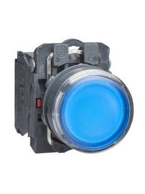 Illuminated Push Button Plastik 24 V AC/DC Biru XB5AW36B5